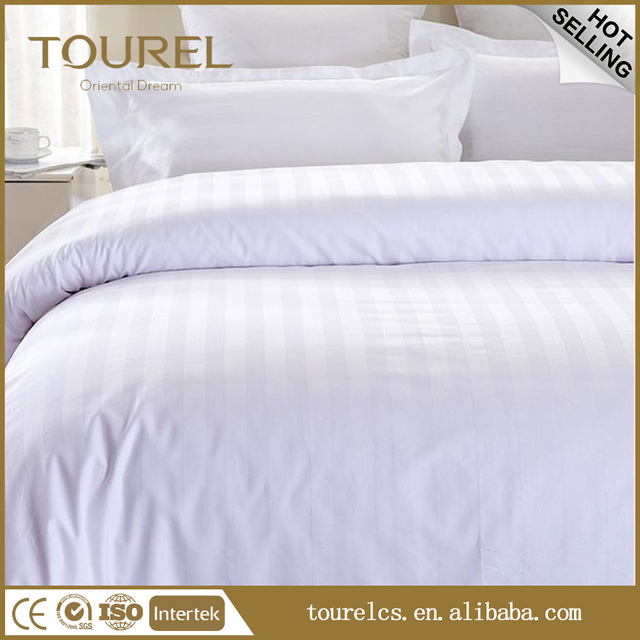 Trade Urance Whole China Manufacture Cotton Stripes Hotel Bed Sheet Bedding Set Linen