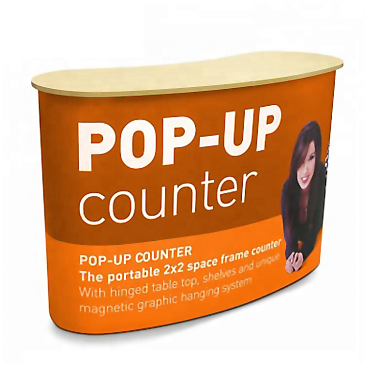 High quality trade show aluminum foldable pop up portable advertising promotion counter display