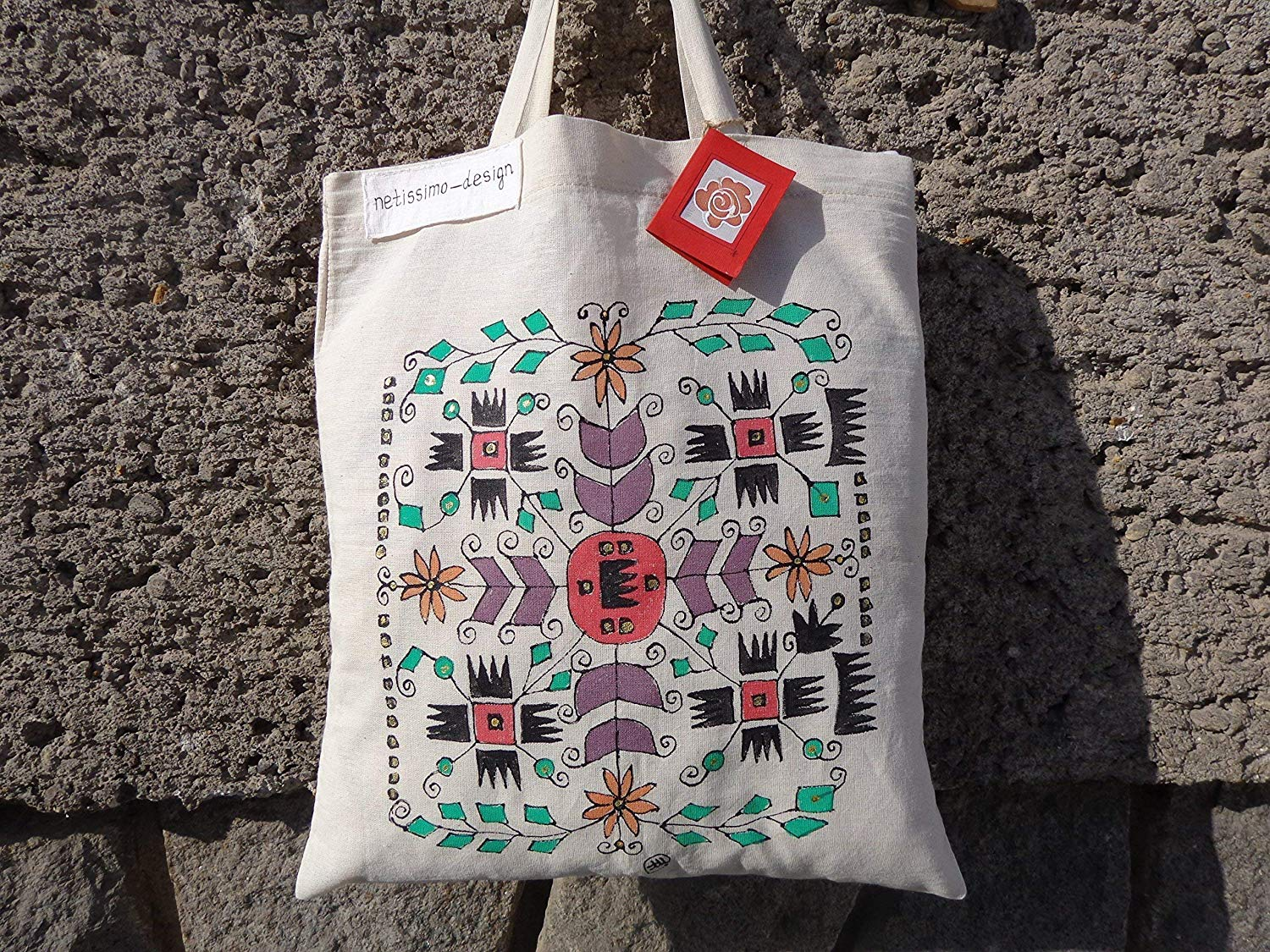 Sale!!!15% Off,NEW Hand Painted Bulgarian Embroidery tote bag,Folk tote bag,Tote bag from Bulgaria,Traditional Bulgarian Bag.