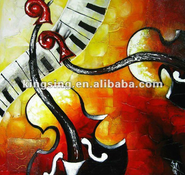 product detail acrylic musical instrument painting on canvas