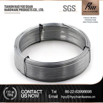 4mm par immersion À chaud galvanisé tissé fil galvanisé fil de fer