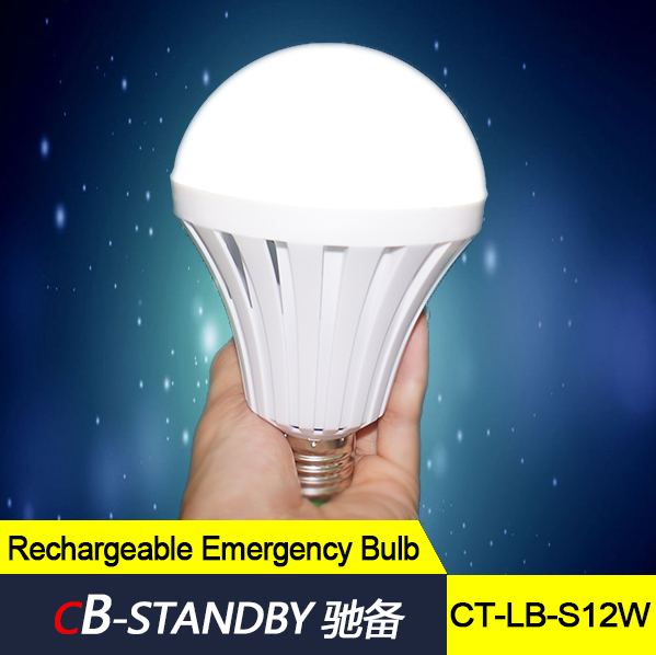 Smart Charge Led Bulb 18650 Battery 12w Bulb Lamp