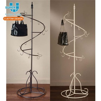 Durable Retail Metal Handbags Displays Display Stand Hanger Hooks