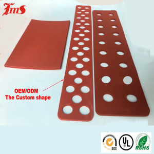 Red Silicone Sponge Adhesive Backed Waterproof Foam Rubber Foam Sheets Insulation Roll Sheet 1mm