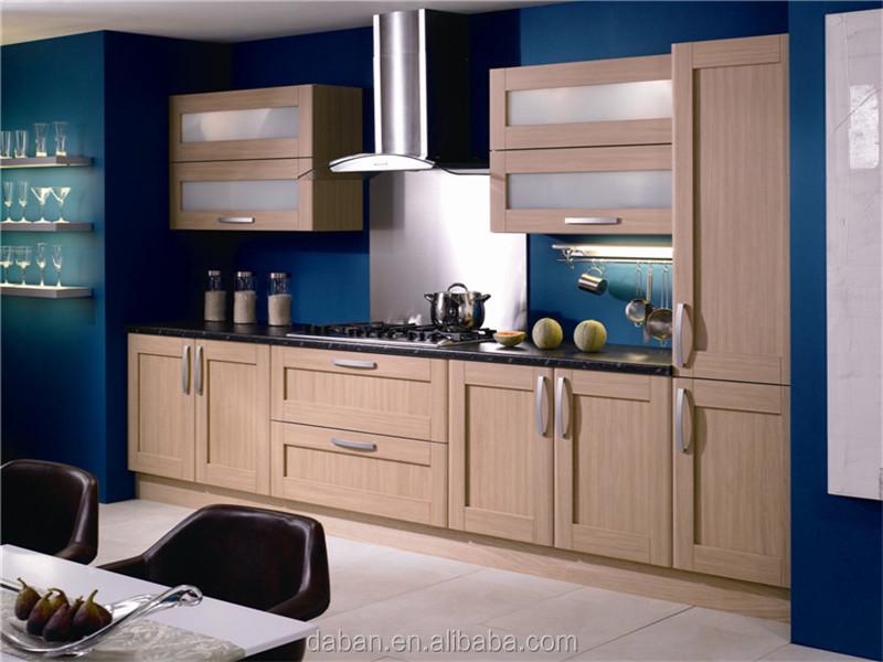 Warm te koop model teak houten keuken kast/keuken muur opknoping ...