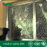Safety & Security Window Film / Clear Glass Protection / 99% UV rejection