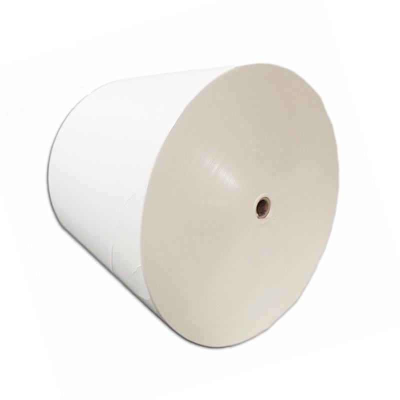 100% Wood Pulp Offset Paper /Flexo Printing Cup Paper Roll With Single <strong>PE</strong> Coated250+18GSM