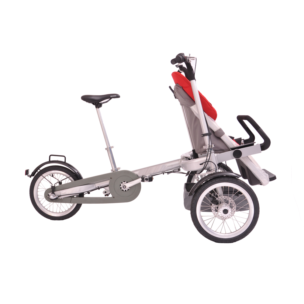 High Quality Baby Mother And Child Stroller With Big Wheels Bike 3-In-1