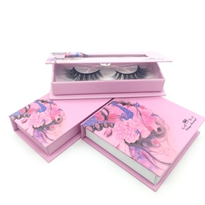 3d mink eyelash private label big eyelashes case supplier custom eyelash packaging