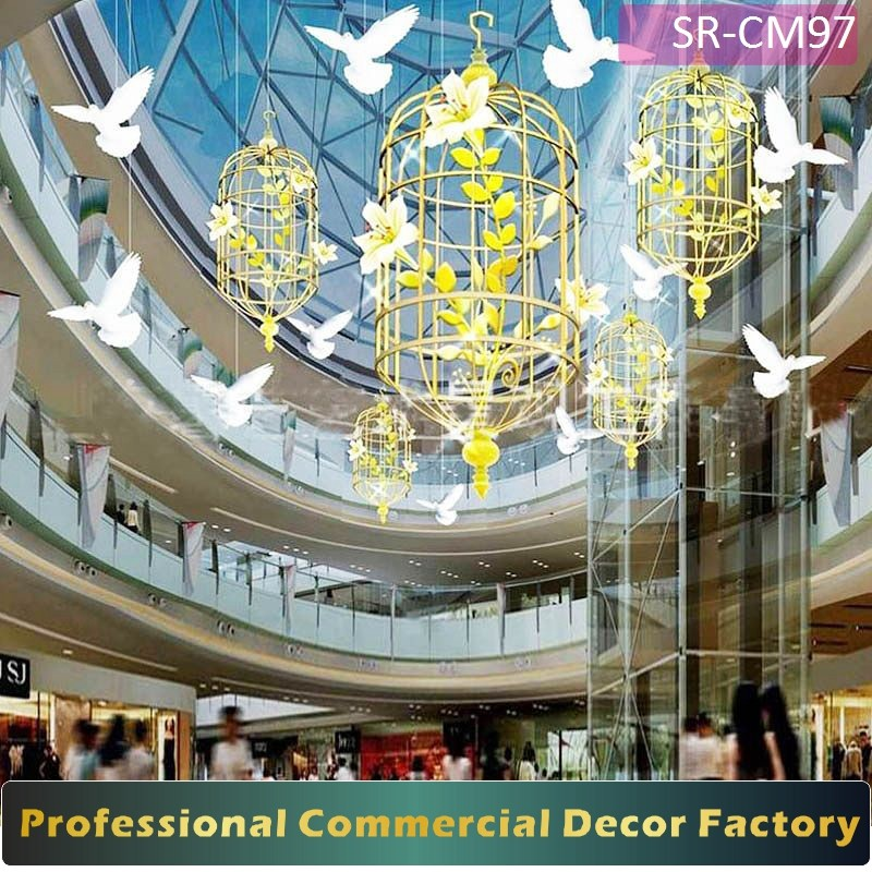 Christmas Decorations In Shopping Malls: Customize Commercial Shopping Mall Ceiling Decoration With