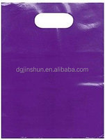 12x15 Glossy Purple Plastic Merchandise Bags with Handles