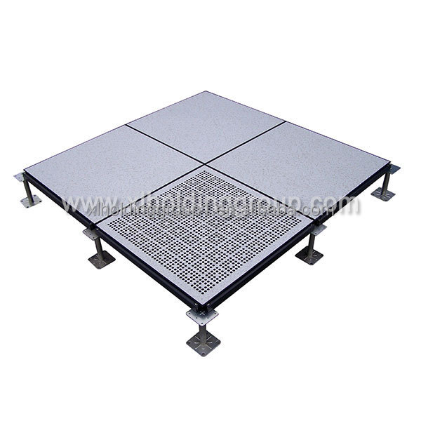 Bare OA raised access floor system