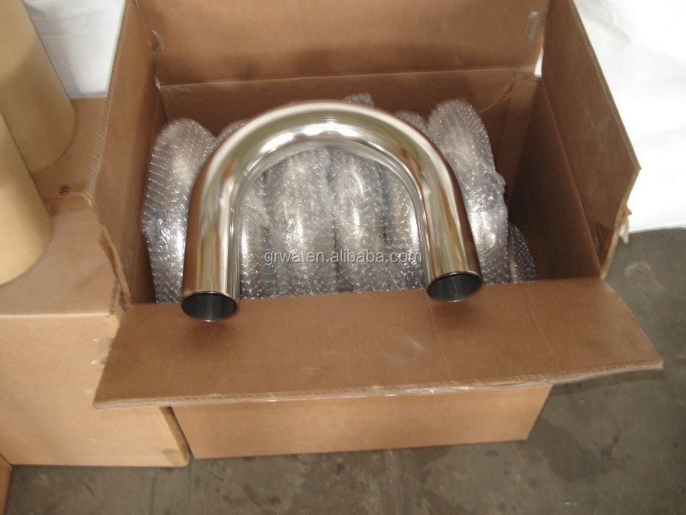 stainless steel pipe bend pipe U bend 180 degree exhaust pipe tubing