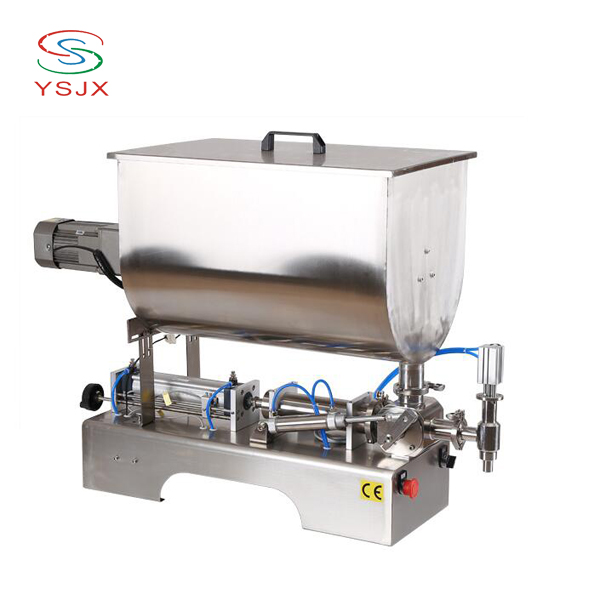 Cheap selling small factory sauce stirring filling machine price