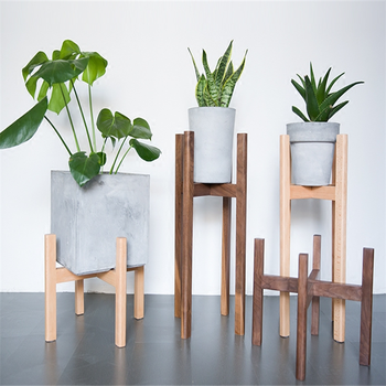 Kayu Solid Bunga Dalam Ruangan Pot Pemegang Rumah Modern Dekorasi