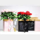 Wholesale Kraft Foldable Eco Friendly Custom Print Dried Fresh Flowers Packaging Hug Box Bouquet For Gifts Art Paper Flower Bag