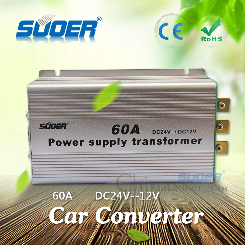Suoer Factory Price 60A Power Supply Transformer DC 24V to DC 12V Converter