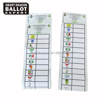 Wholesale nigeria ballot paper sample election 2019 ballot voting card,  View Wholesale ballot paper, Smart dragon Product Details from Guangzhou  Smart