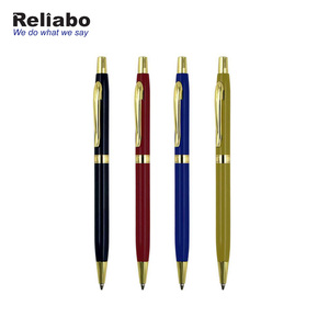 Reliabo High Quality Business Promotional Custom Design Gold Metal Ball Gift Pen