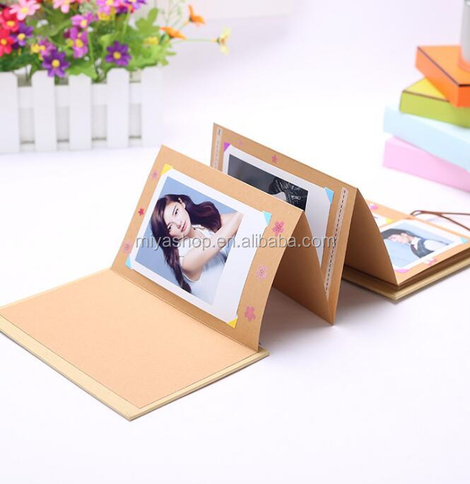8 inch Creative Accordion Folding Page Paste Album / DIY Baby Photo Album / Couple Classmates Handmade Gifts