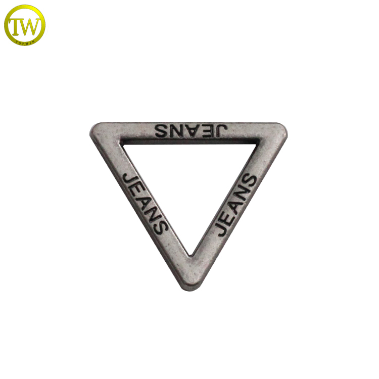 Highly Quality Zinc Alloy Rigging Hardware Triangle Buckle for garment