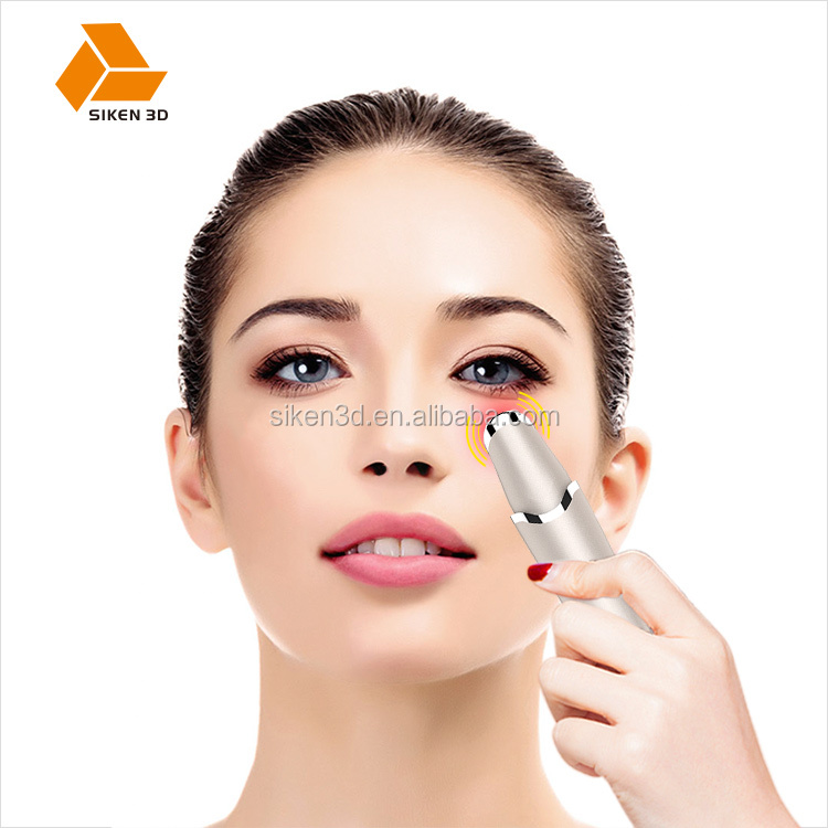 New arrival rechargeable 2 in 1 vibration thermal eye Anti wrinkle beauty massager