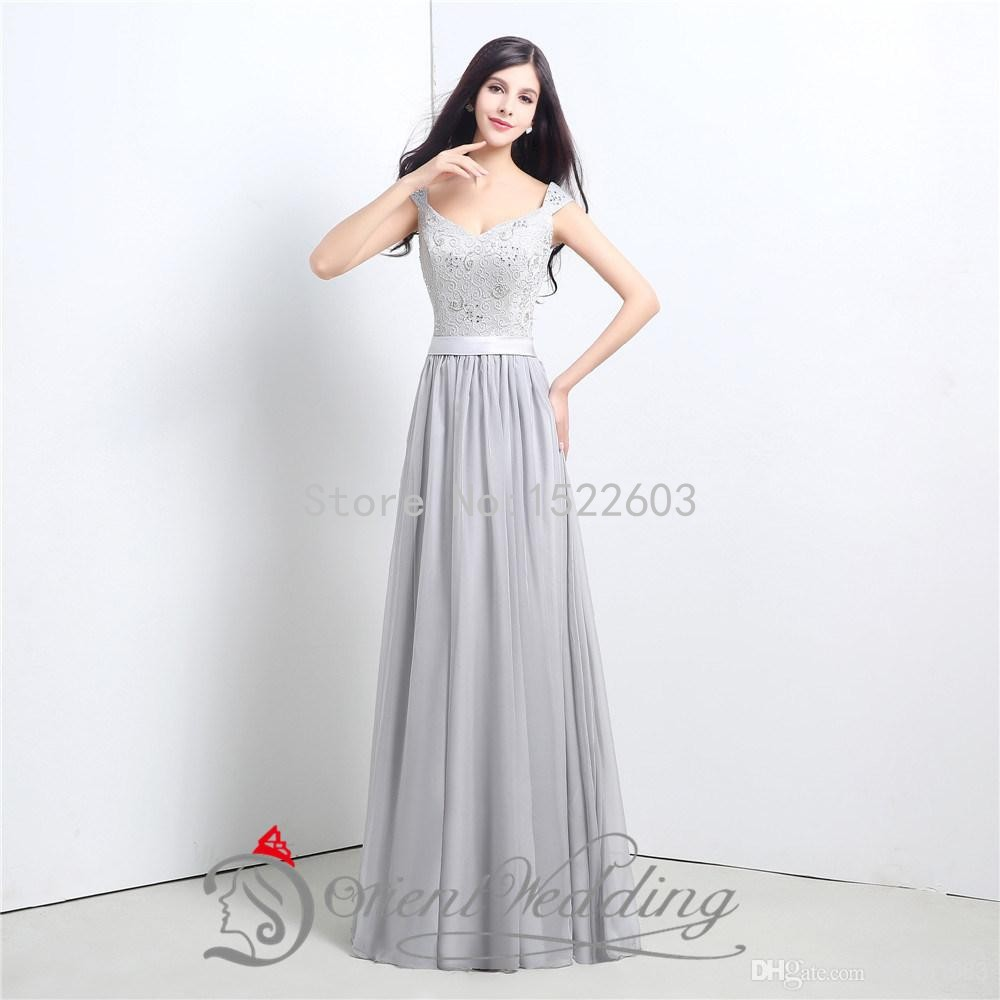 Cheap silver bridesmaid dresses find silver bridesmaid dresses get quotations in stock 2015 cheap a line lace silver bridesmaid dresses v neck lace up back long ombrellifo Choice Image