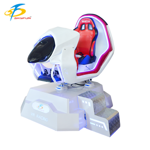 Cheap interactive virtual reality vr white racing car+cheap china race car simulator supplier