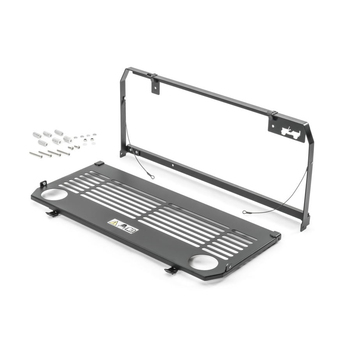 Aluminum Alloy Flexible Rear Tailgate Table Storage Cargo Shelf Rack Matte Trunk Luggage Holder For Jeep Wrangler JL 2018-2019