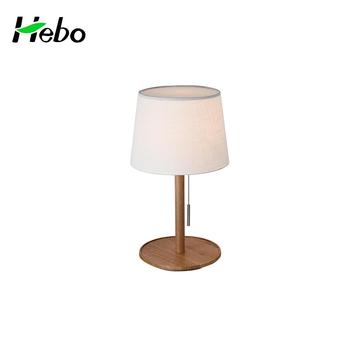 White Metal Wood Table Lamps For Hotel Lamparas Para Mesas De Noche
