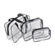 High quality custom transparent PVC clear travel kit pouch custom cosmetic bag