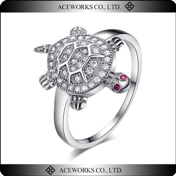 925 Sterling Silver Turtle Ring mBKxR4