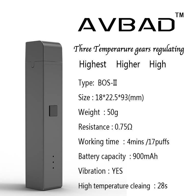 Temperature Control Dry Herb Tank Ceramic Heating Vape Tank