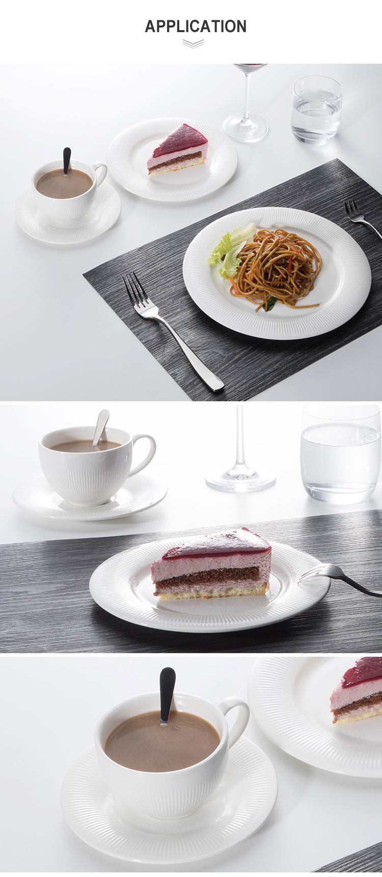 Hotel Supplier Cheap Bulk Tableware Ceramic Dinner Plates, Dinnerware Set Porcelain Coffee Cup, Restaurant Serving Dishes