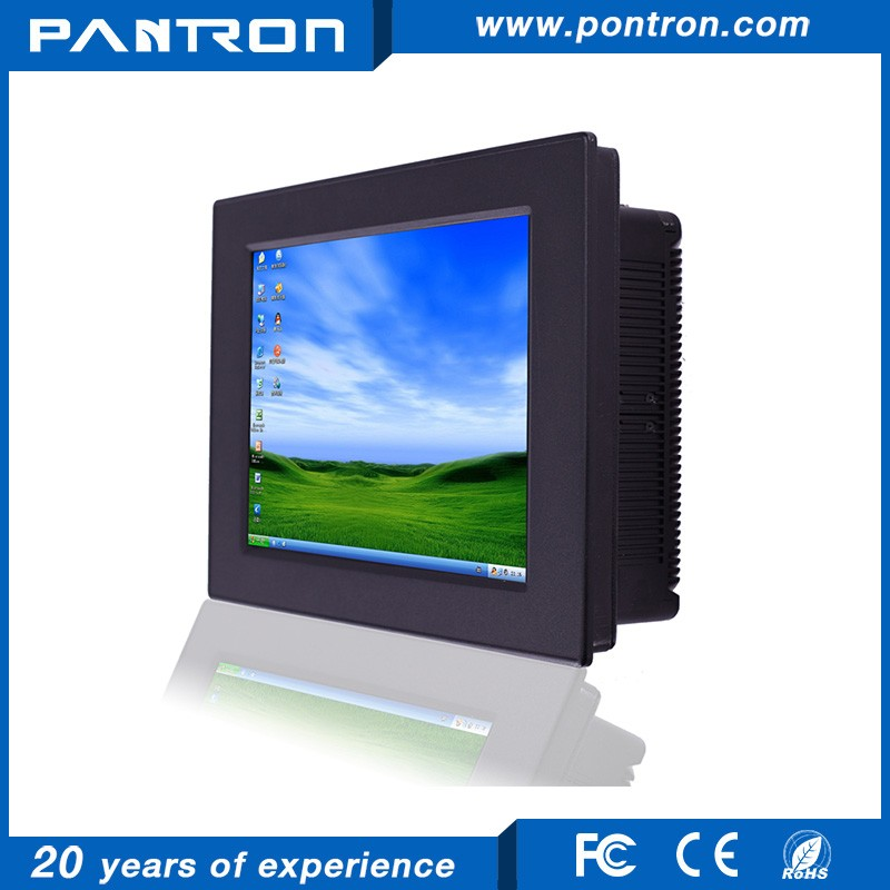 run windows system 12 inch fanless industrial cheap Panel PC