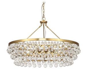cheap golden hanging crystal chandelier lamp for dining room