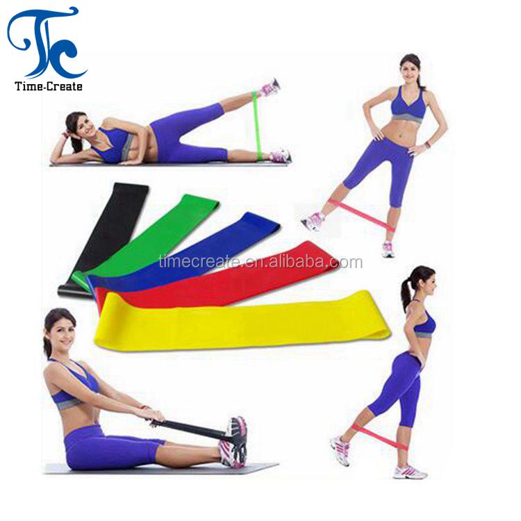 Oefening weerstand loop benen armen pull up training 500x50mm/600x50mm 5 stks weerstand bands set