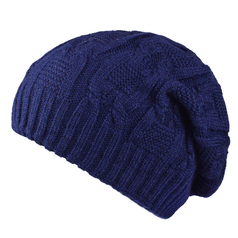 PZLE Cute Beanies Ski Hat Slouchy Mens Stocking Cap Knit Winter Hats For Women