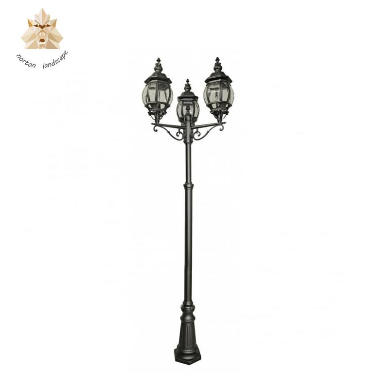 Ornaments Outdoor Decorative Antique Garden Cast Street Wrought Iron Lamp Post Ntilp 165y