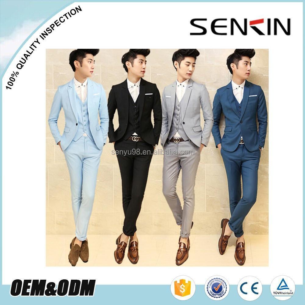 New Style 2015 Top Brand Korean Fashion Men Tuxedo Wedding Suits Oem ...