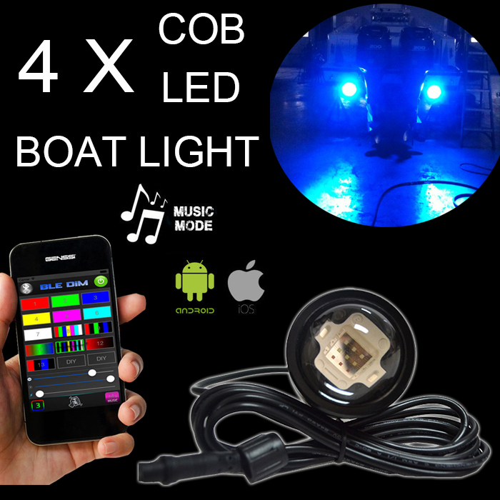 27W IP68 Waterproof Underwater Boat LED Marine Light DC12-32v brightness RGB/Blue Drain Plug Light