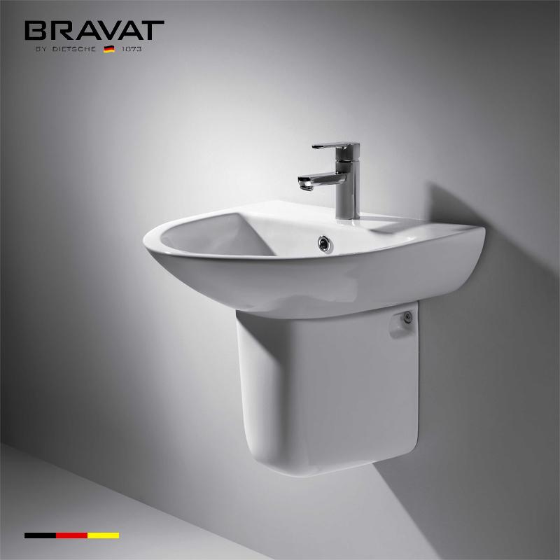 Fashion Design bathroom wall hung bathroom wash ceramic basin/sin for  Bathroom Decoration C04008W-1, View wall hung bathroom wash basin, Bravat
