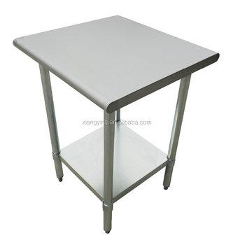 Stainless Steel Corner Work Table With Plastic Adjustable Feet