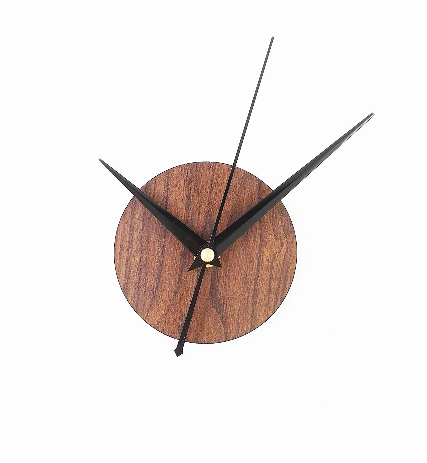 Reliable-E Wood Like Clock Face Power Movement DIY Wall Clock Kit for Home Decor (Brown)
