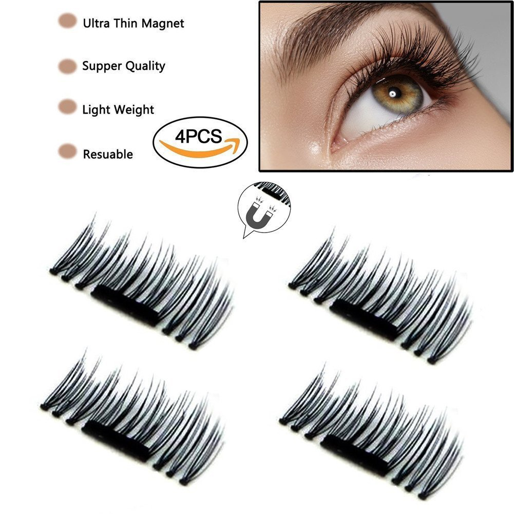 6fe6df5a501 Get Quotations · 3D False Magnetic Eyelashes by ABCDOK - No Glue, Mess-Free Reusable  Lashes -