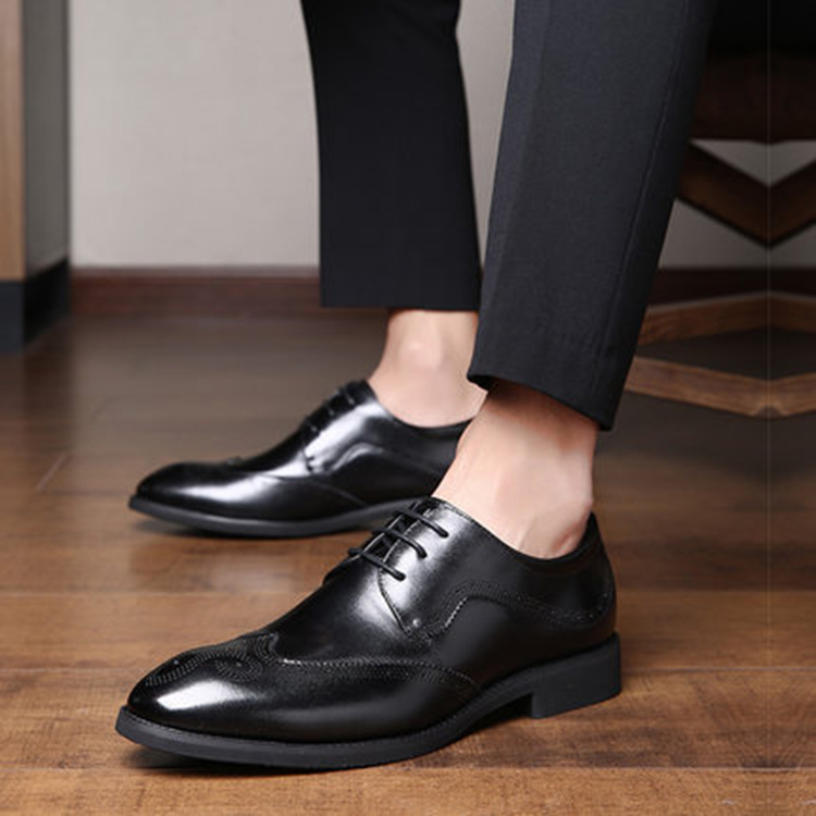 Custom low price high quality men leather dress shoes