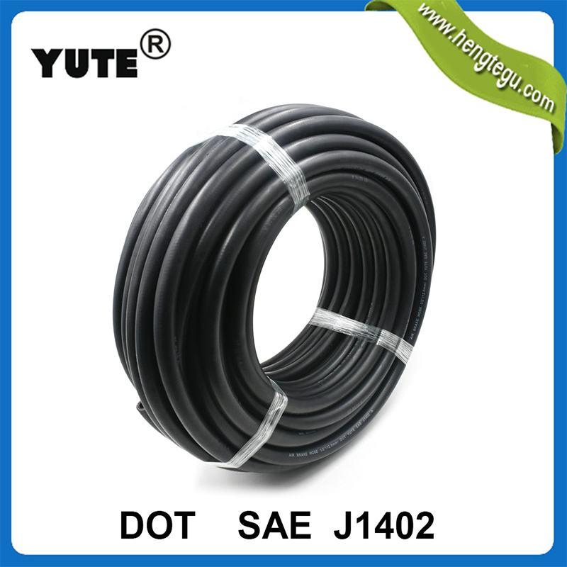 YUTE made DOT approved SAE J1402  3/8 inch rubber hose 2394 brake system  3 in 1 air power lines