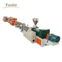high hauling speed 16-63mm plastic machinery pvc pipe extrusion line