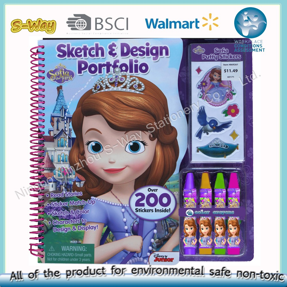 Drawing book coloring set for kids