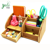 Office Supplies Bamboo Desk Organizer for collect accessories